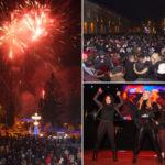 Caransebesenii au intampinat noul an cu muzica, sampanie si artificii
