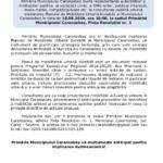 Consultare publică privind Planul de mobilitate urbană durabilă al municipiului Caransebeș