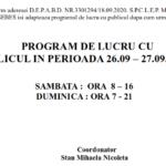 Program de lucru S.P.C.L.E.P. Caransebes