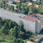 Spital modular în spatele spitalului din Caransebeș